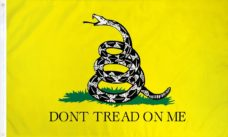 Don't Tread On Me Yellow Flag, Gadsden Flag, Military Flags, Tea Party Flags, Yellow Flag