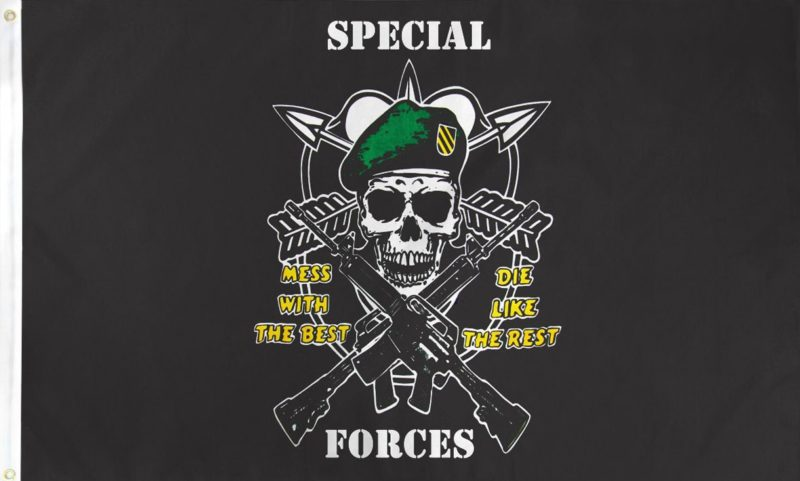 Special Force Flag, Military Flags, Special Operations Flag, Army Flag