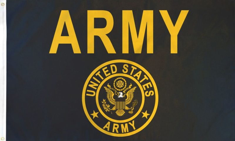 US Army Gold Flag, Military Flags, Army Flags, Army Gold Flag