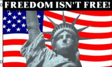 Freedom Isn't Free Flag, Statue of Liberty Flag, American Patriotic Flags, Flags, Novelty Flags