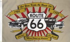Route 66 Flag, Novelty Flags, Get Your Kicks on Route 66 Flags, Flags, Car Flags