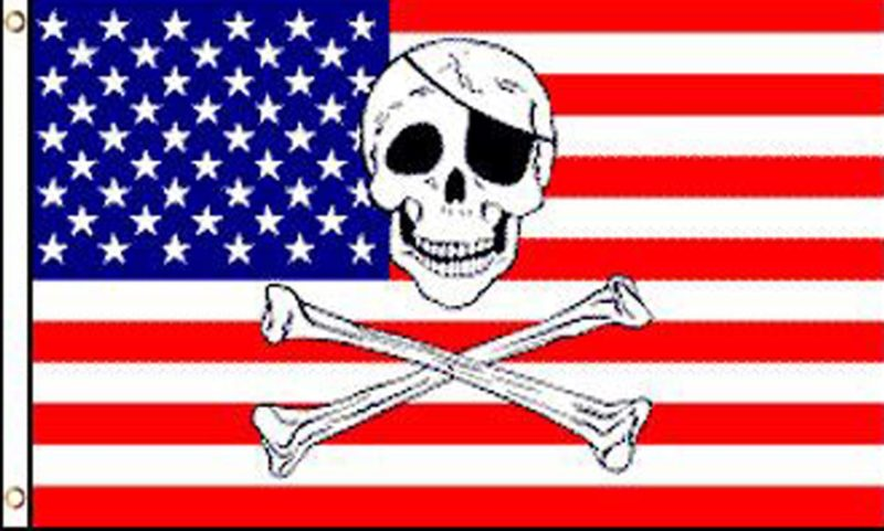 USA Pirate Flag, American Pirate Flag, Pirate Flags, USA Skull Flags, Jolly Rogers American Flags, Novelty Flags