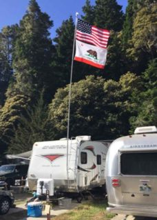 Ladder Flagpole Mount, Flagpole, Flags, RV camping