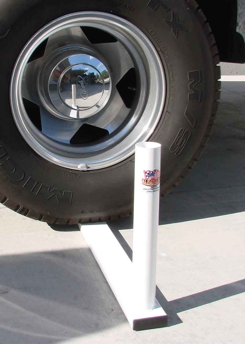 Tire Flagpole Mount