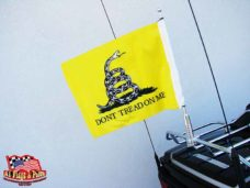 Motorcycle Flagpole with Gadsden Flag, Don't Tread On Me, Motorcycle Flagpoles with USA Flag, Motorcycle Flagpole and Flags, Motorcycle Flags, Harleys, Motorcycles