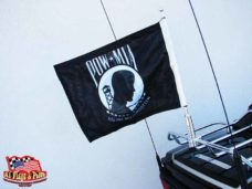 Motorcycle Flagpole With POW MIA Flag, Motorcycle Flagpoles with USA Flag, Motorcycle Flagpole and Flags, Motorcycle Flags, Harleys, Motorcycles