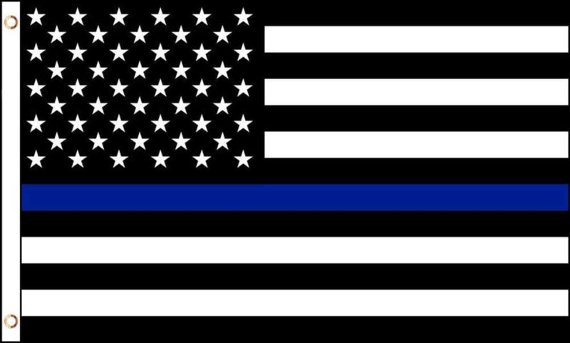 USA Thin Blue Line Flag, Thin Blue Line Flag, Law Enforcement Flag, Police Officers Flag, Cop Flag, Black and White USA Flag