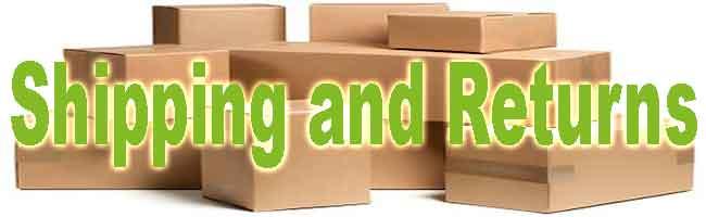 shipping, returns, exchange