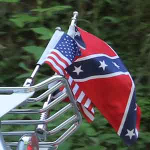 Motorcycle Flagpole With Confederate Flag