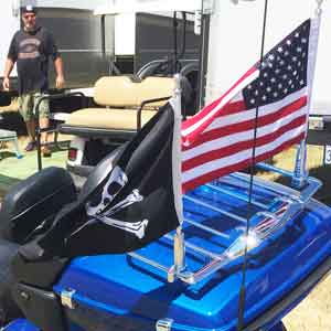 Motorcycle Flagpole With Pirate Flag