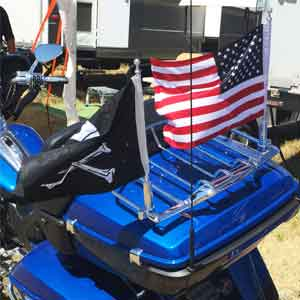 Motorcycle Flagpole With USA Flag