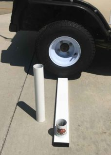 new flagpole tire mount, tire mount, flagpole mount, flagpole tire mount, new tire mount