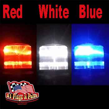 Solar Beacon Light Red White And Blue, Flagpole Lights